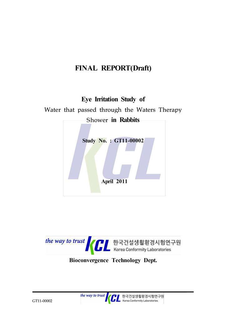 Certyfikat KCL dla produktu Therapy Shower